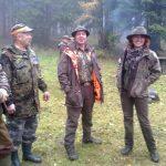 Humory dopisują: koledzy od lewej: Leszek, Albin i Robert oraz koleżanka Dorota