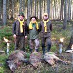 Szczęśliwcy z polowania w Ścinawce Średniej-obwód 341
